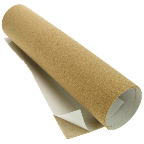 Cork Sheet Self Adhesive 480mm x 1 metre, 1.5mm thick.