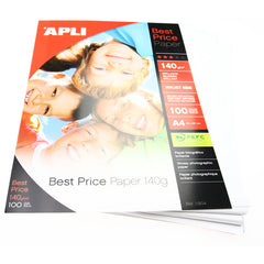 APLI Glossy Photo Paper - A4 - 140gm - 100pk