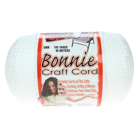Bonnie Craft Cord 6mm - White