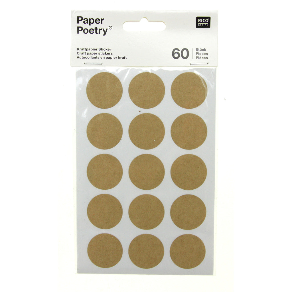Rico - Craft Paper Stickers - Round