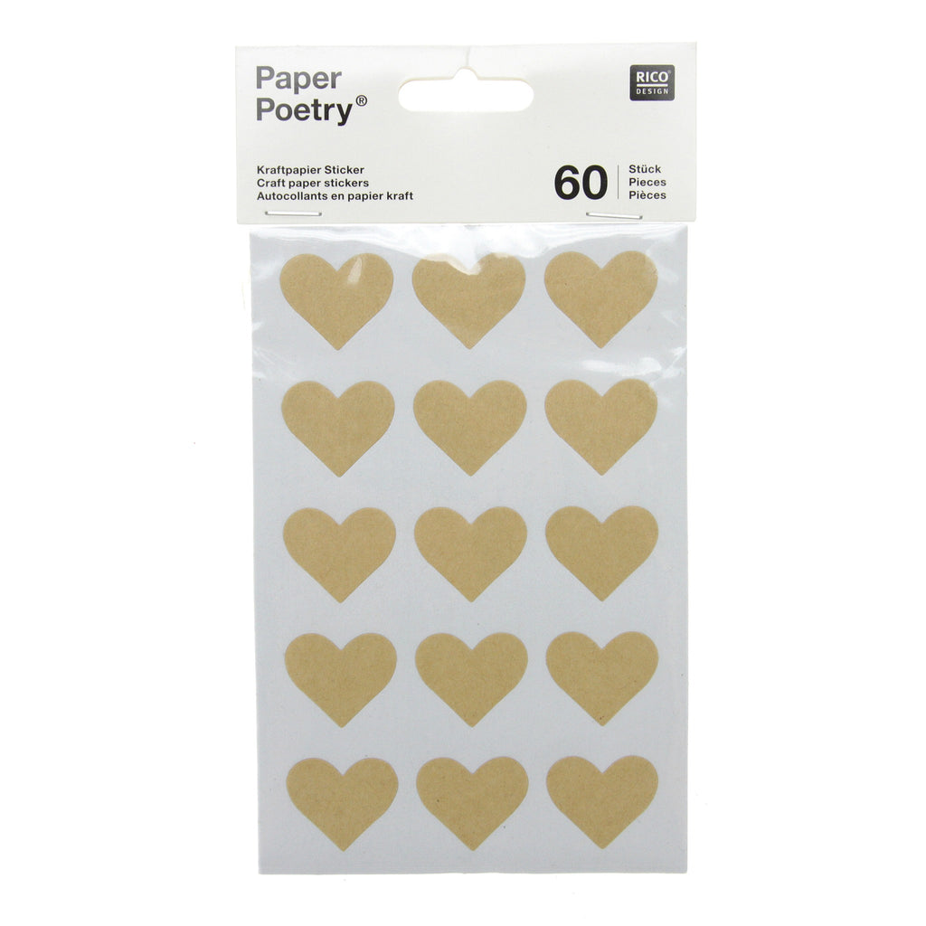 Rico - Craft Paper Stickers - Hearts