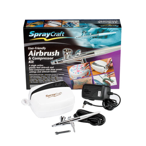 Spraycraft - Airbrush & Compressor Kit (Top feed, Single action)