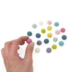 Rico - Felt Balls - Pastel Mix - 15mm - 20 Pcs