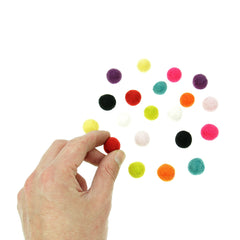Rico - Felt Balls - Multi Mix - 15mm - 20 Pcs