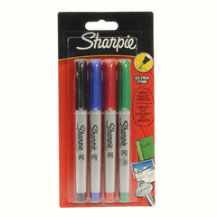 Sharpie Assorted Markers 4 Pack - Ultra Fine
