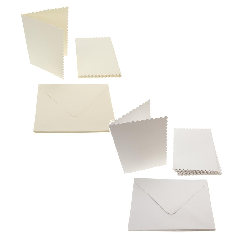 A6 Scalloped Card Blanks 300gsm 12Pk