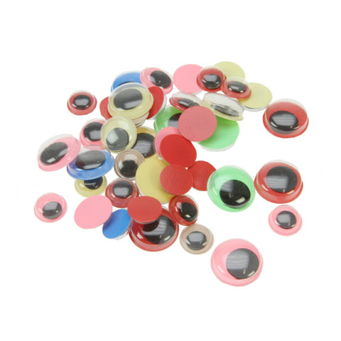 Wiggle Eyes Assorted Colours - 40 Pack