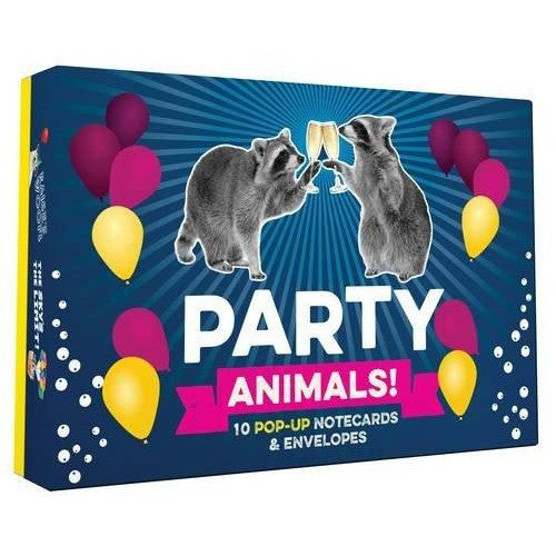 Party Animals Pop Up Cards 10pk