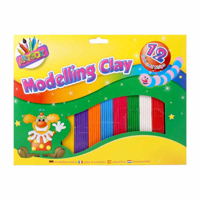 12 Colourful Strips Modelling Clay