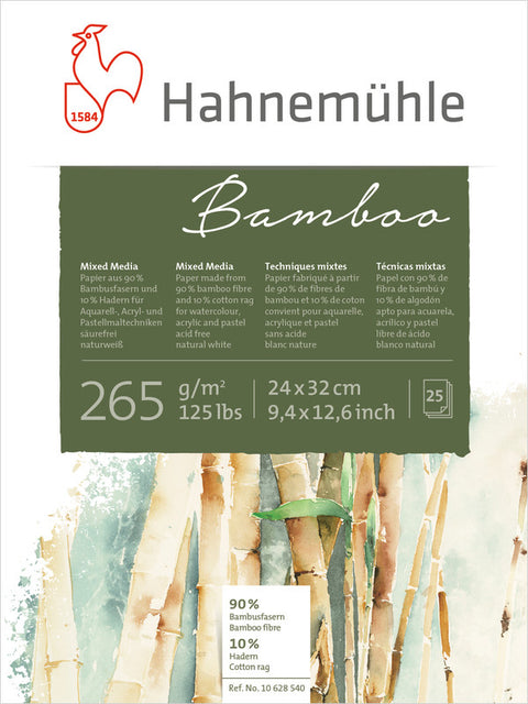 Hahnemuhle Bamboo-Mixed Media 265gsm - 24X32cm