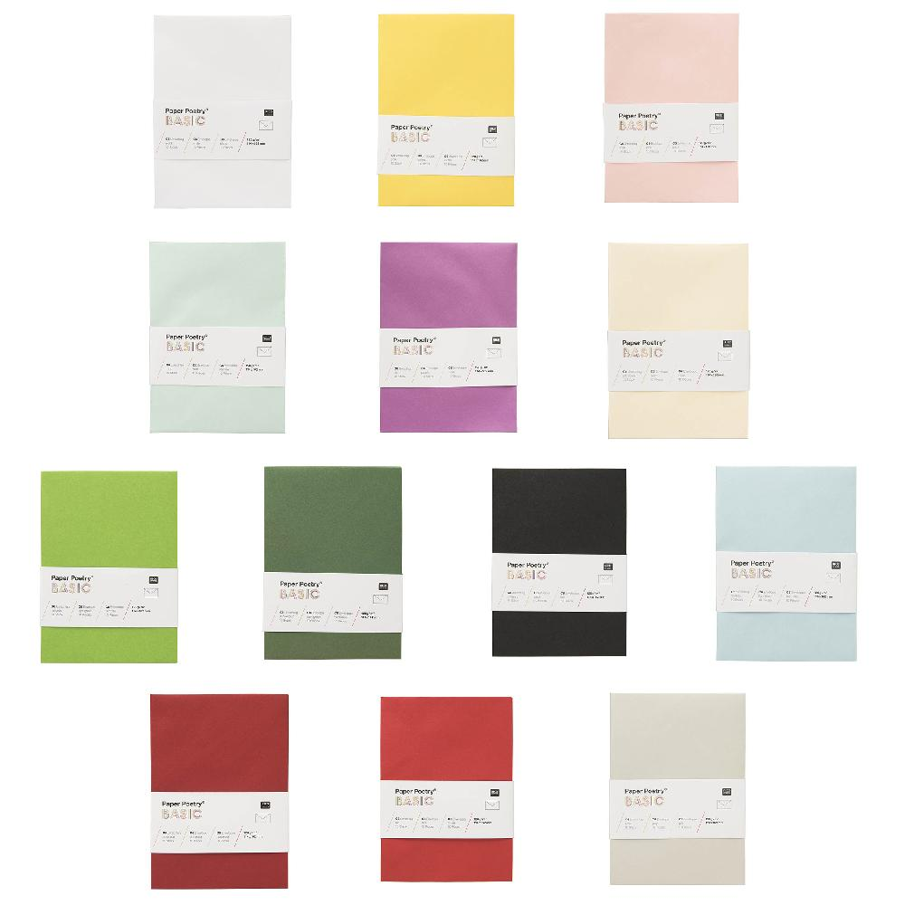 Rico Basic Envelopes C6 Dark Green