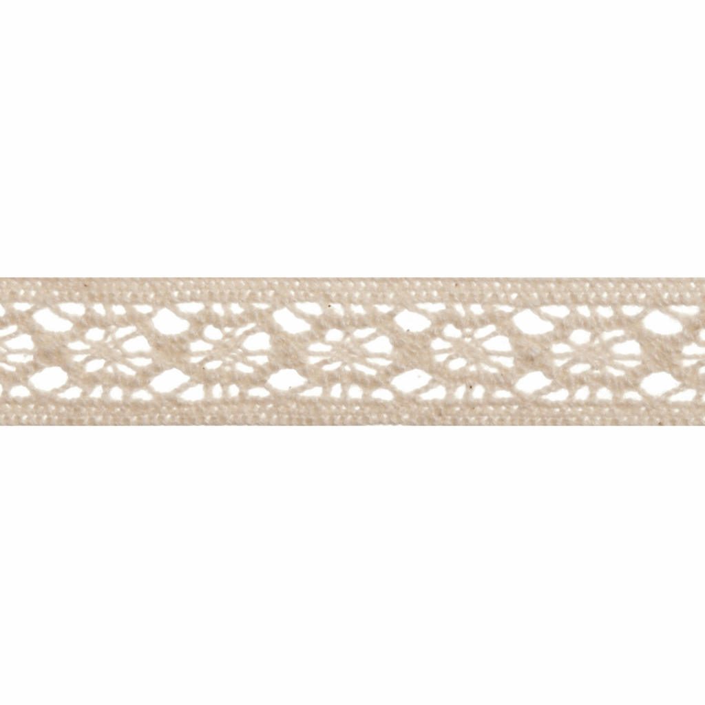 Cotton Lace - 5m x 12mm - Cream