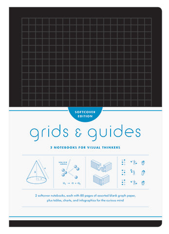 Grids And Guides Softcover Notebook Set of 2