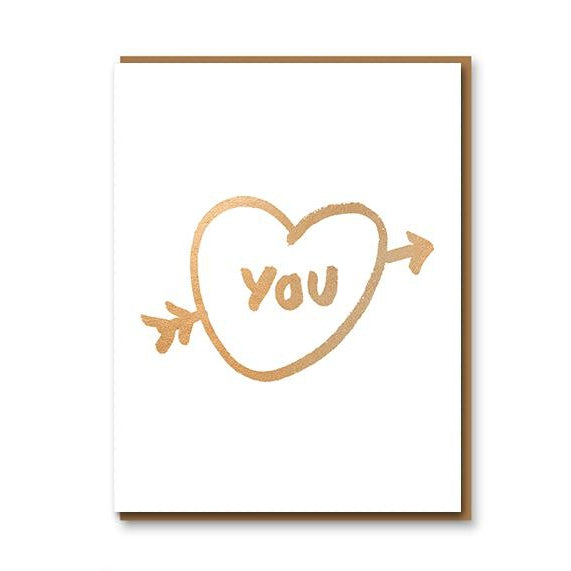 Gold You Heart - Card
