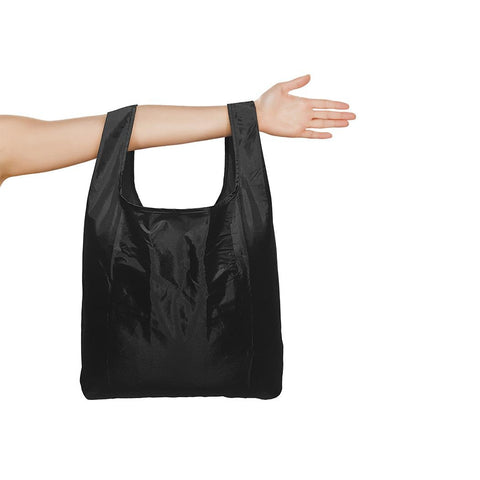 The unfolded bag across somebodies arm.