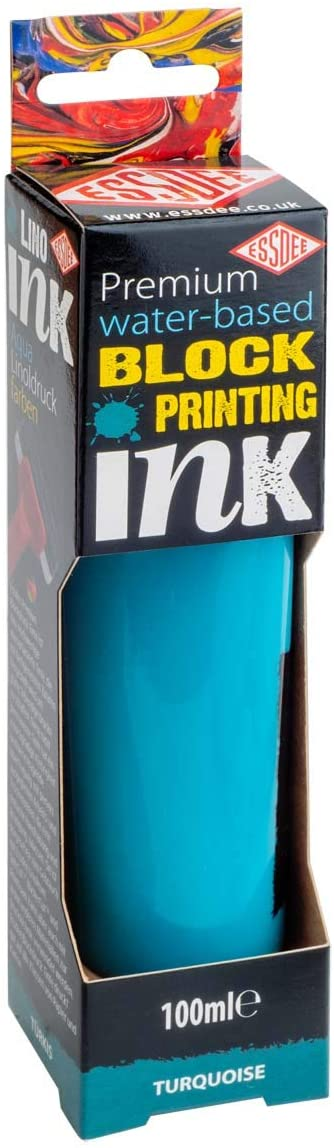 Essdee Premium Water-based Block Printing Ink  Turquoise 100ml