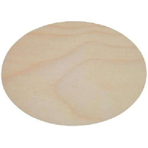 Birch Plaque 175 x 125mm Oval 4mm thick Plywood Pack of 3