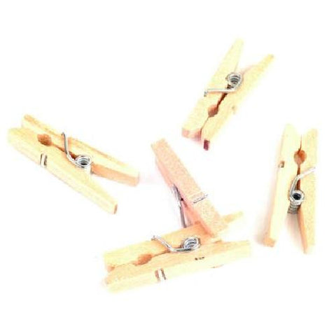Mini Clothes Pegs 25mm 50 Pk