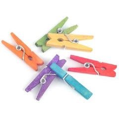 Coloured Mini Pegs 25mm 50 Pk