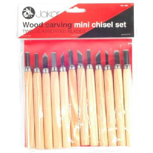 Jakar Wood Carving Set 12 Pk