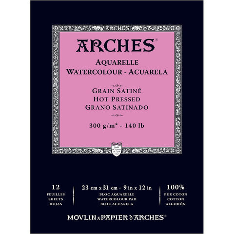 Arches Glued Pad 23x31cm 300gsm Satine