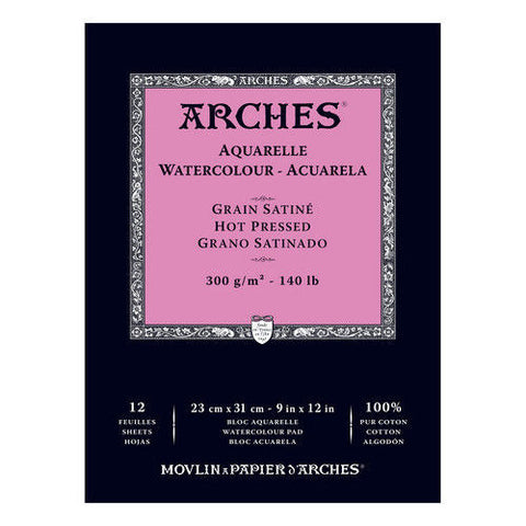 Arches Glued Pad 26x36cm 300gsm Satine
