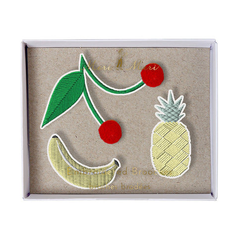 Meri Meri Fruit Brooches