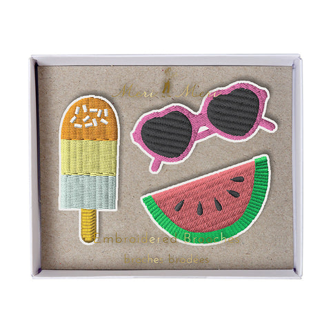 Meri Meri Shades, Popsicle, Watermelon Brooches
