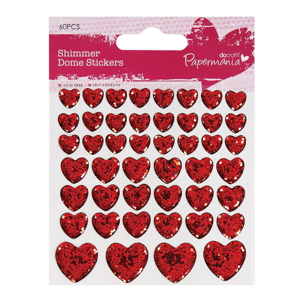 Clip Strip - Shimmer Heart Stickers (46pcs)