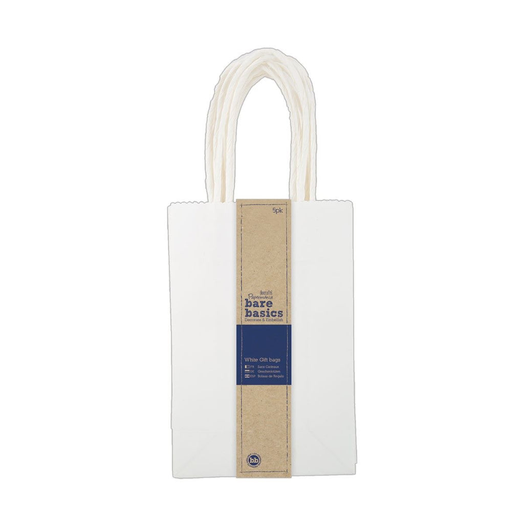 White Gift Bags (5pk) - Small
