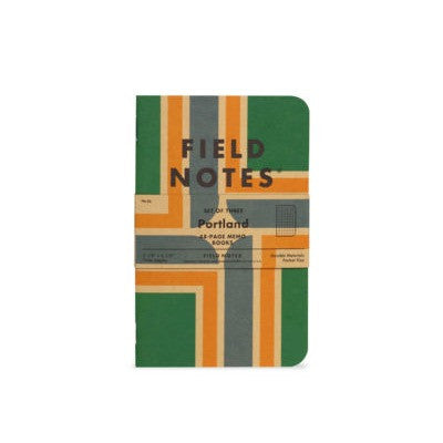 FIELD NOTES Pack of 3 Notebooks - Portland