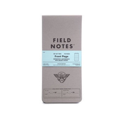 FIELD NOTES Reporter Notebooks - Front Page