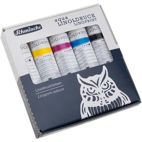 Schmincke - aqua LINOPRINT Painting Set - 5 x 20ml