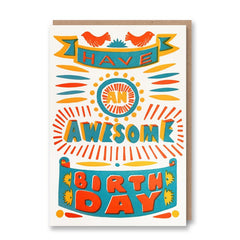 Sukie Letterpress Collection Awesome Birthday