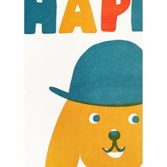 Sukie Letterpress Collection HB Dog with Hat