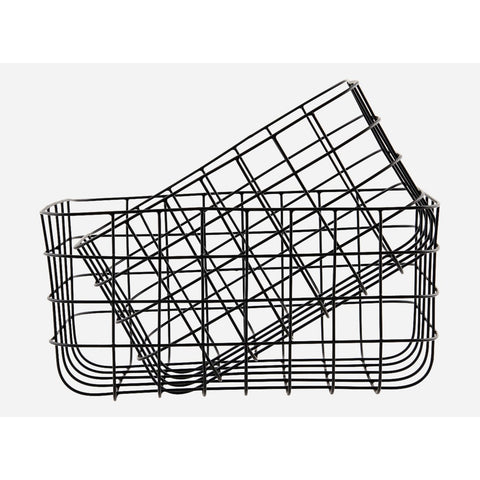 Basket Black Set Of 2 - 16cm