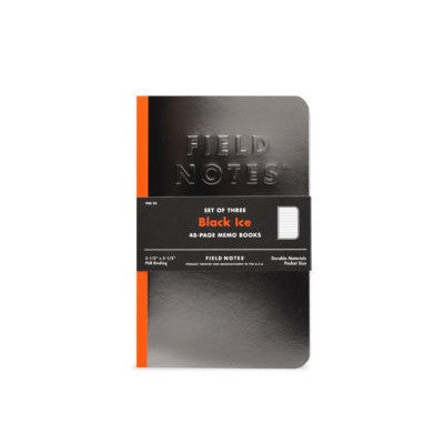 FIELD NOTES Pack of 3 Notebooks - Black Ice