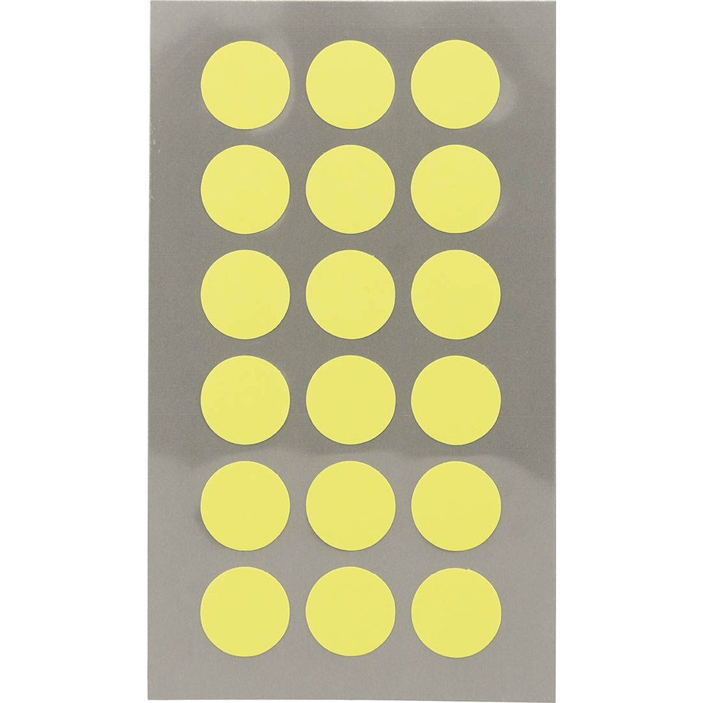 Rico Office Stick Neon Yello Dot 15mm 4 Sheets 7x15.5 cm