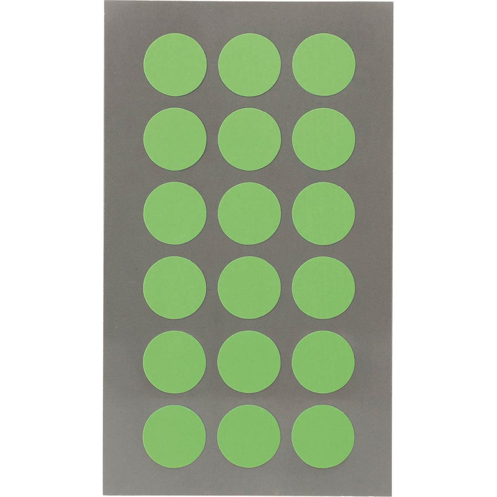 Rico Office Stick Neon Gree Dot 15mm 4 Sheets 7x15.5 cm