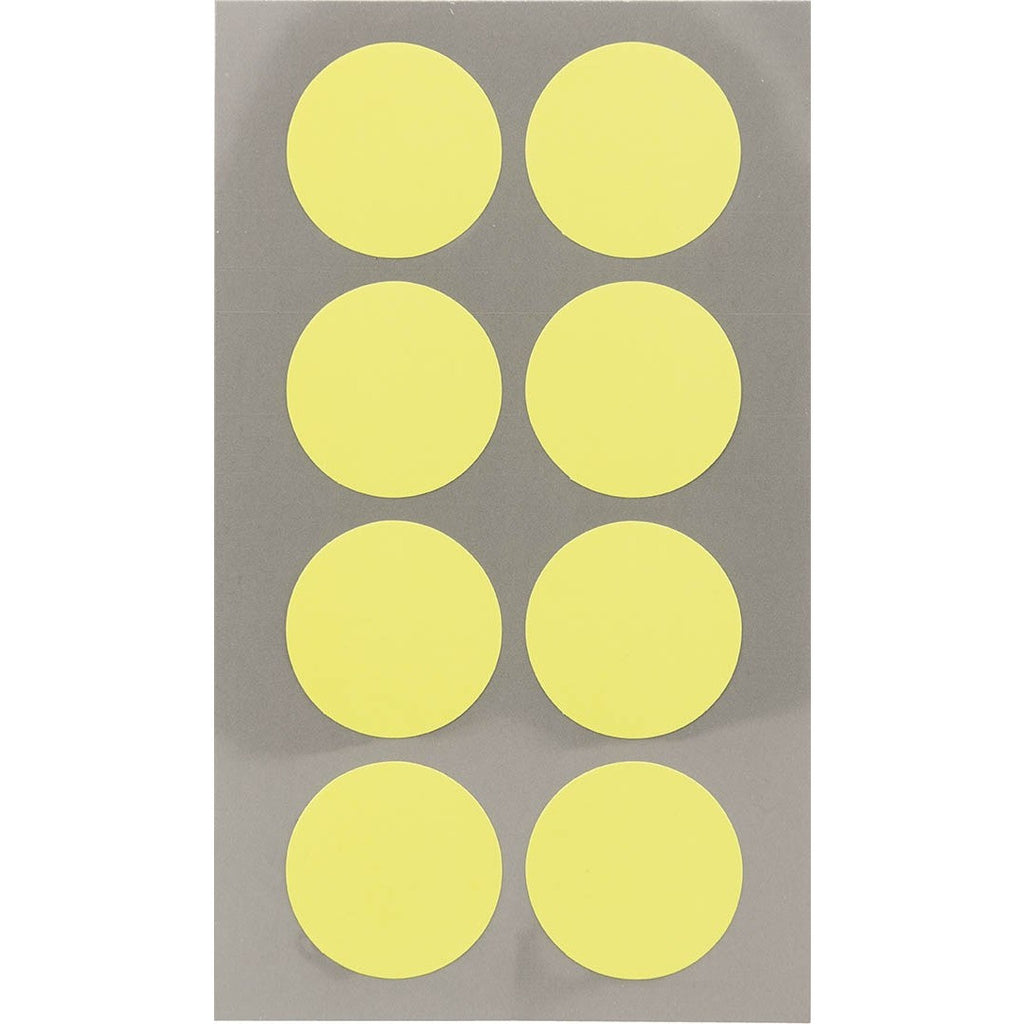 Rico Office Stick Neon Yello Dot 25mm 4 Sheets 7x15.5 cm