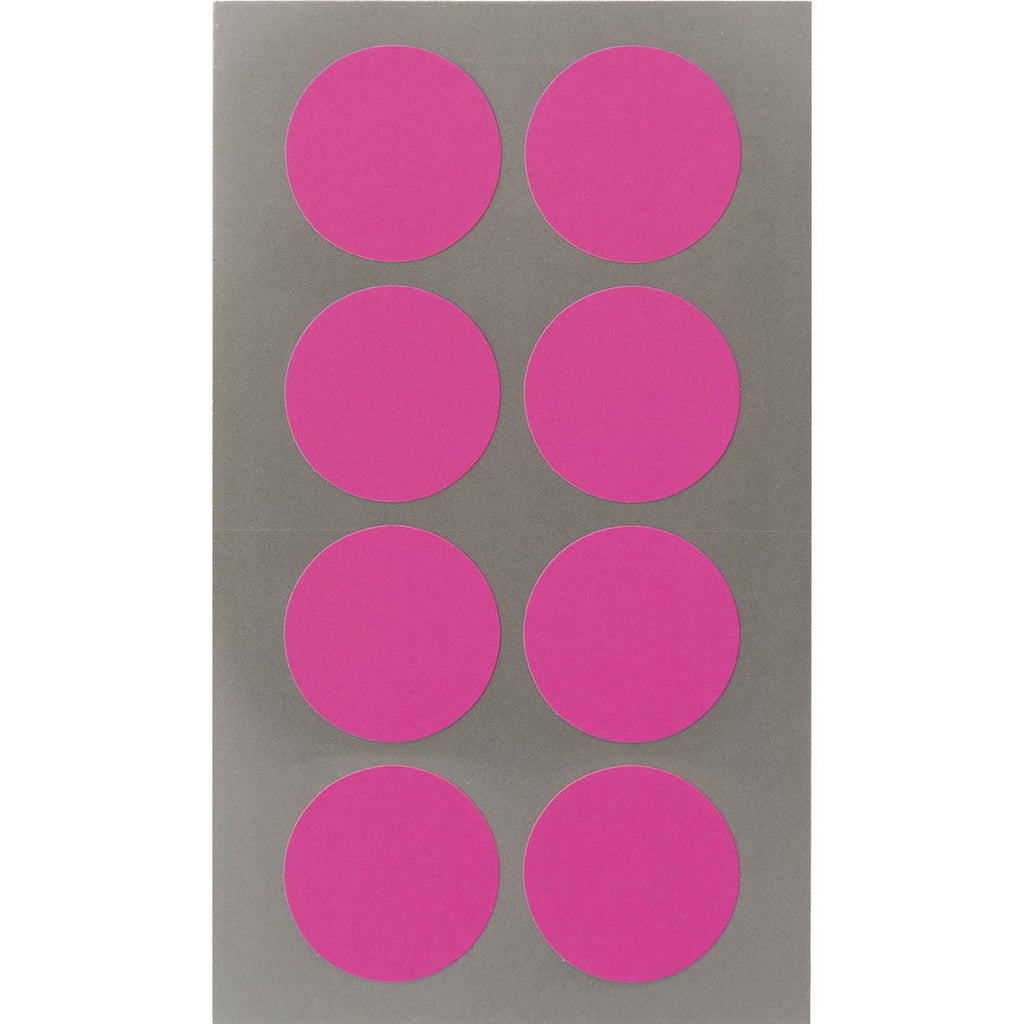 Rico Office Stick Neon Pink Dot 25mm 4 Sheets 7x15.5 cm