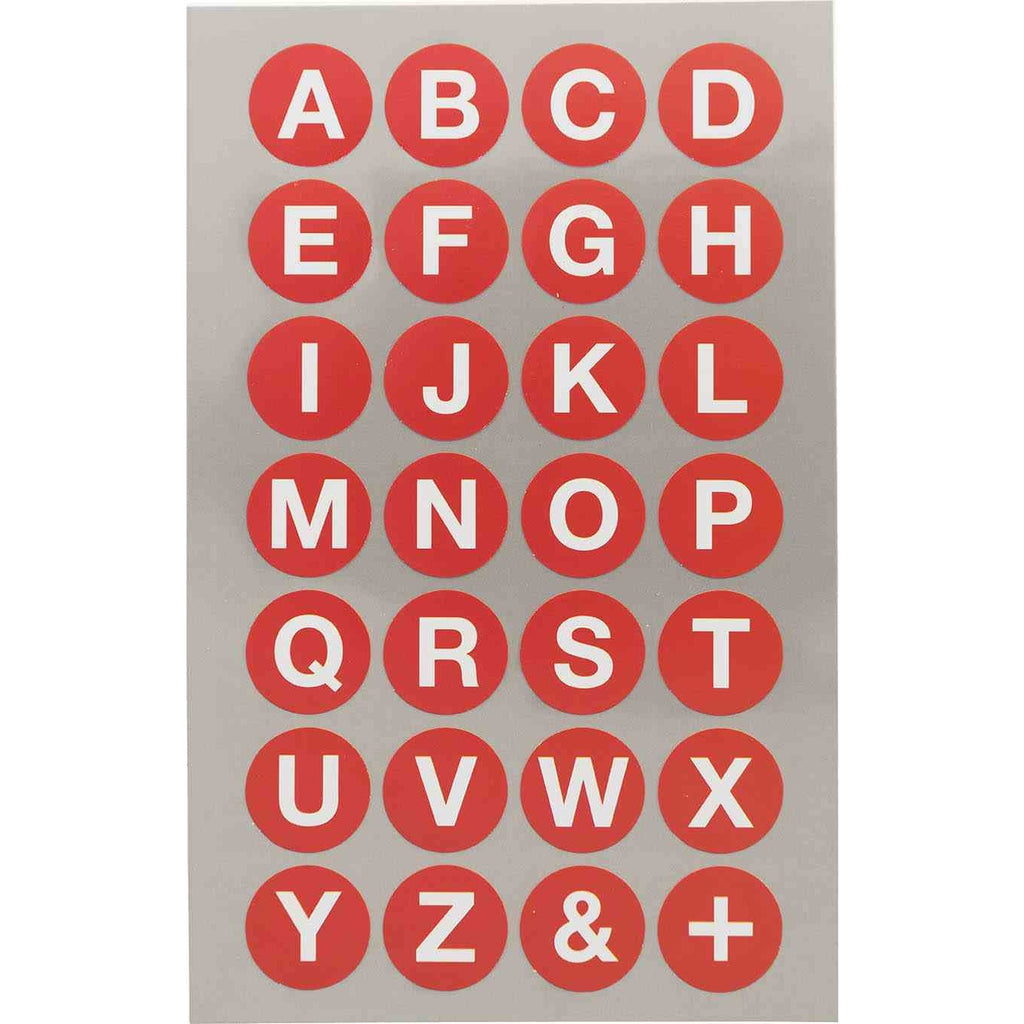 Rico Office Stick Red Abc Dot 18mm 4 Sheets 9.5x19 cm