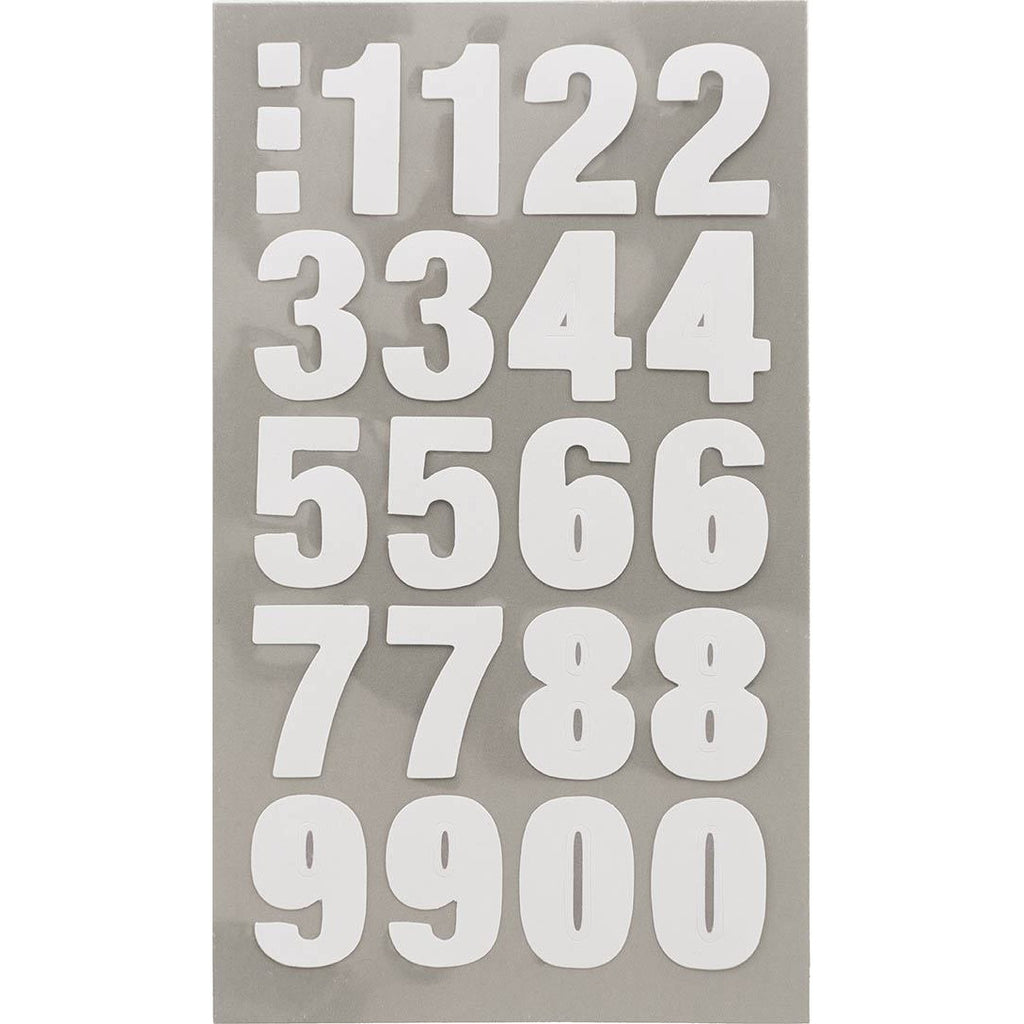 Rico Office Stick White Numbers 4 Sheets 7x15.5 cm