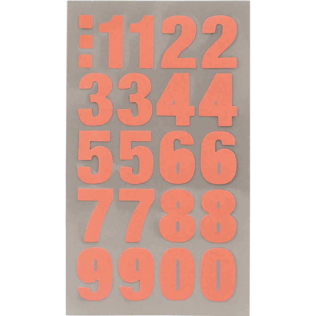 Rico Office Stick Neon Red Numbers 4 Sheets 7x15.5 cm
