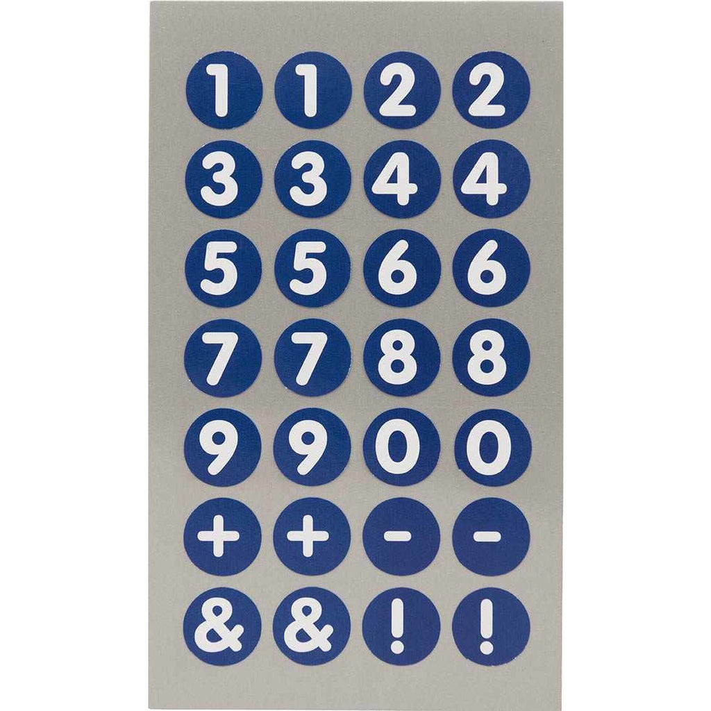 Rico Office Stick Number Blue 13mm 4 Sheets 7x15.5 cm