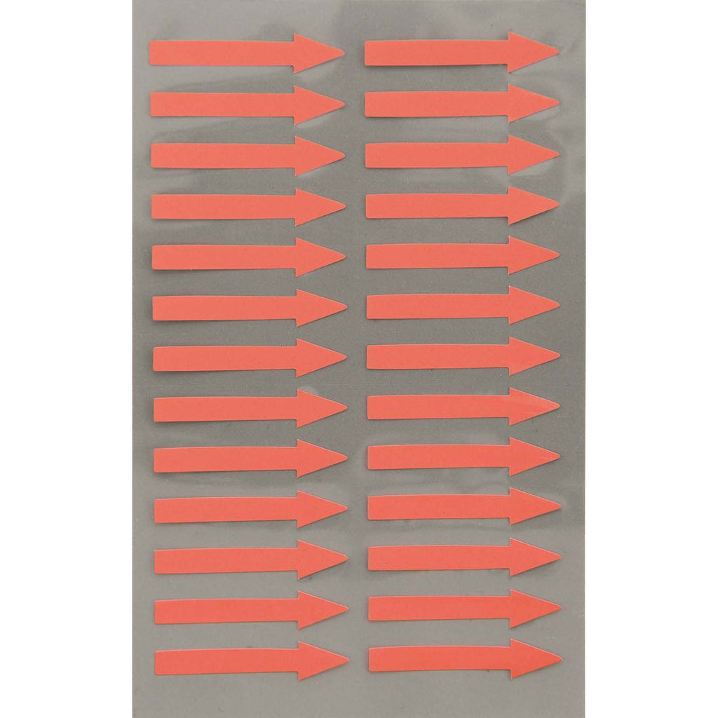 Rico Office Stick Arrows Neon Red 4 Sheets 9.5x19 cm