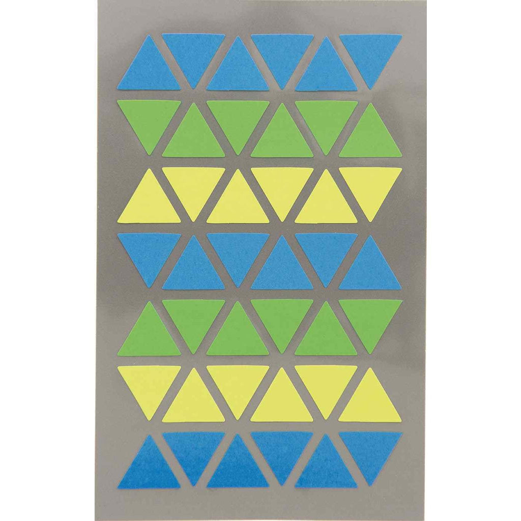 Rico Office Stick Triangl Blue/Gre 4 Sheets 9.5x19 cm