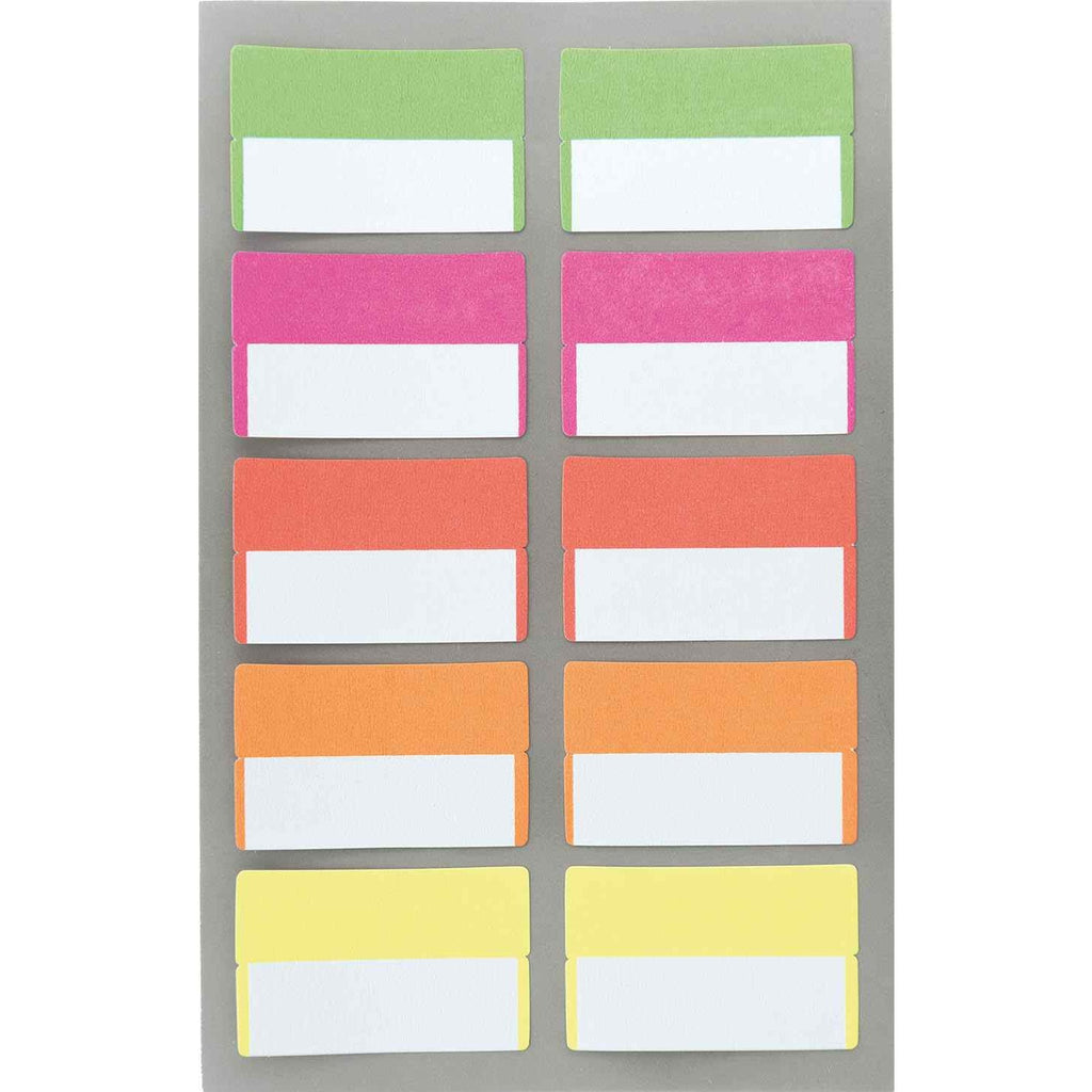 Rico Office Stick Index Labels Neo 4 Sheets 9.5x19 cm