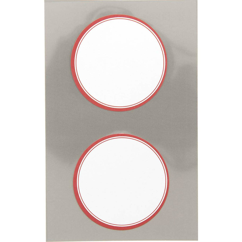 Rico Office Stick W Red Frame Roun 4 Sheets 9.5x19 cm