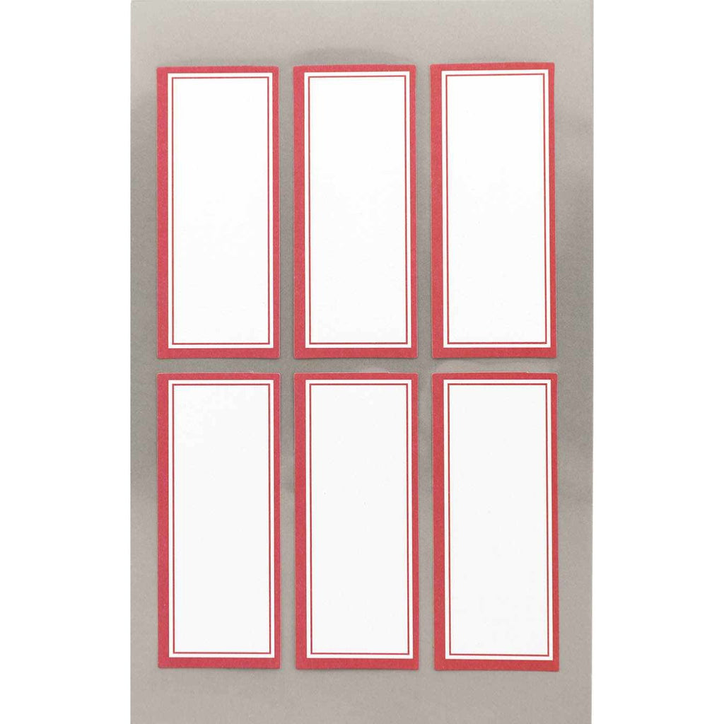 Rico Office Stick Wit Red Frame Sq 4 Sheets 9.5x19 cm